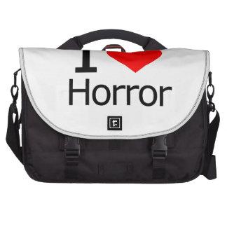 I Love Horror Laptop Messenger Bag