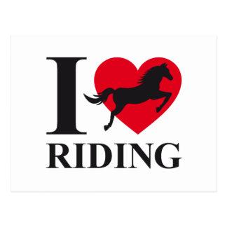 I love horse riding postcard