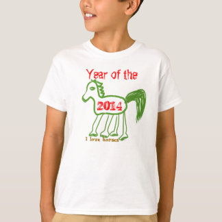 I Love Horses 2014 Year of the Horse Whimsical T-Shirt