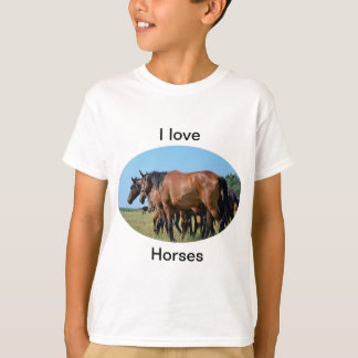 I love Horses Beautiful Bay Horse T Shirt