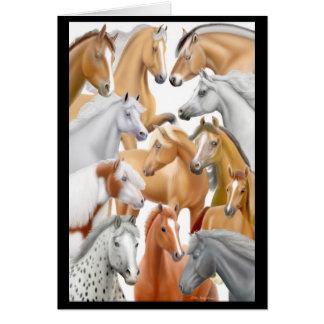 I Love Horses Card