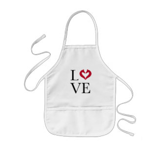 I love horses, heart with horse heads kids apron