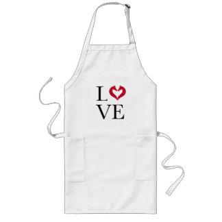 I love horses, heart with horse heads long apron