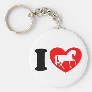 I Love Horses Keychain