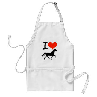 I Love Horses Standard Apron