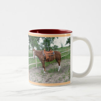 I love Horses!!! Two-Tone Coffee Mug
