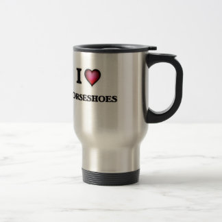 I Love Horseshoes Travel Mug