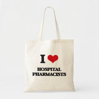 I love Hospital Pharmacists Tote Bag