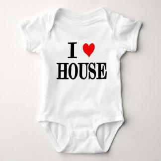 "I Love House ""house music"" baby one peice dj edm Baby Bodysuit"