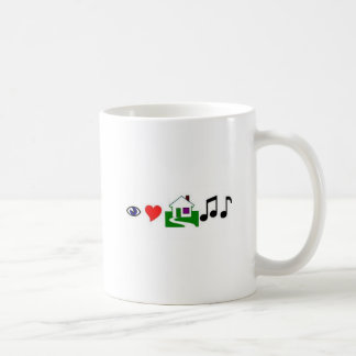 I love house music! coffee mug