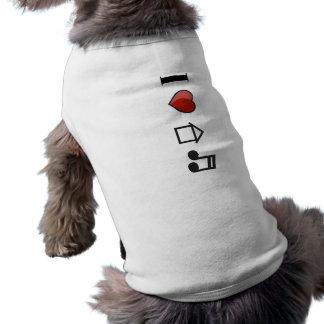 I Love House Music Doggie Tshirt