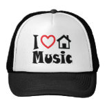 I Love House Music Hat Red Heart