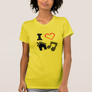 I Love House Music Ladies T-Shirt