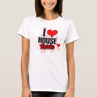 I Love House Music Ladies Tee