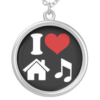 I Love House Music Necklace