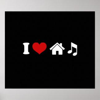 I Love House Music Poster