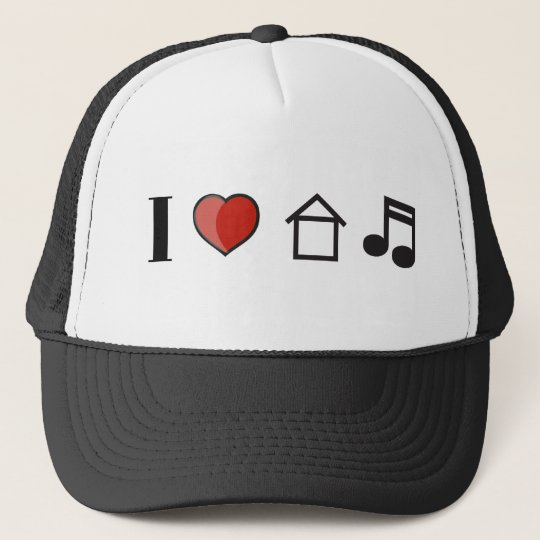 I Love House Music Trucker Hat