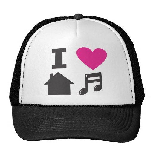 I love house music trucker hat zazzle for 93 house music