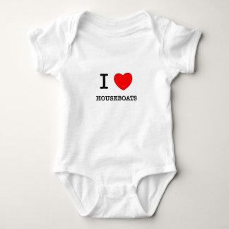 I Love Houseboats Baby Bodysuit