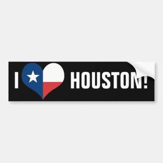 I Love Houston Bumper Sticker