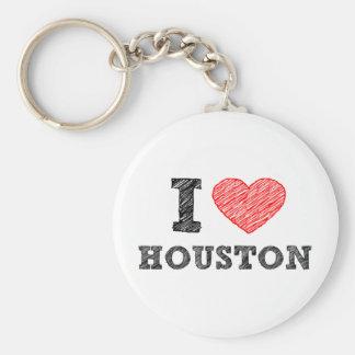 I Love Houston Keychain