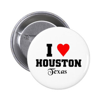 I love Houston, Texas 2 Inch Round Button