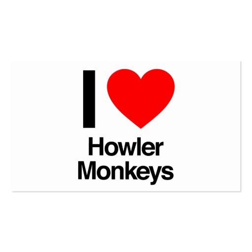 i love howler monkeys business cards
