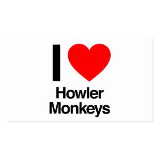 i love howler monkeys pack of standard business cards