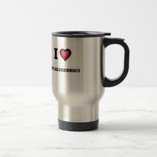 I Love Huckleberries Travel Mug