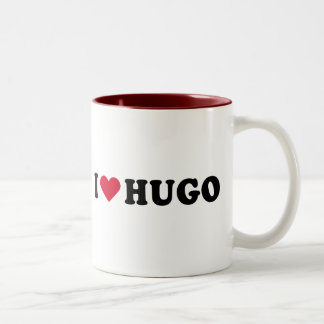 I LOVE HUGO Two-Tone COFFEE MUG