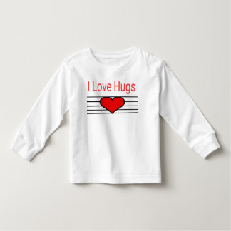 I love hugs toddler t-shirt