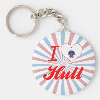 I Love Hull, Massachusetts Keychain