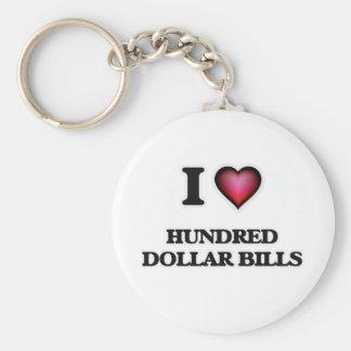 I love Hundred Dollar Bills Keychain