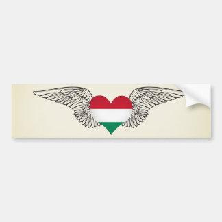I Love Hungary -wings Bumper Sticker
