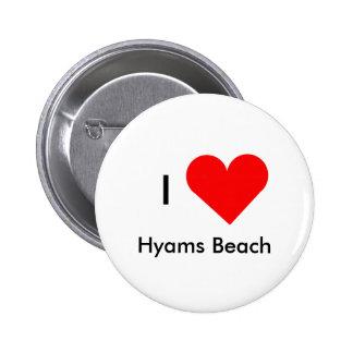 I Love Hyams Beach 2 Inch Round Button