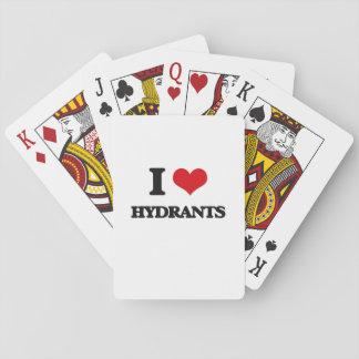 I love Hydrants Poker Cards