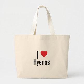 I love Hyenas Large Tote Bag