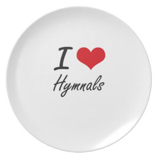 I love Hymnals Party Plate