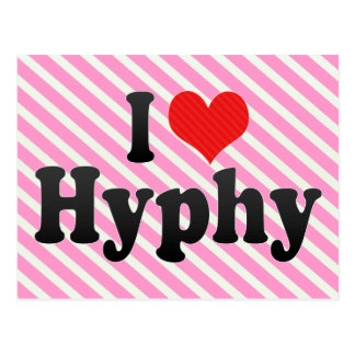 I Love Hyphy Postcard