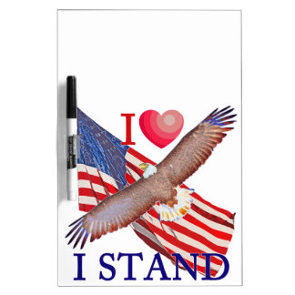 I LOVE I STAND DRY ERASE BOARD