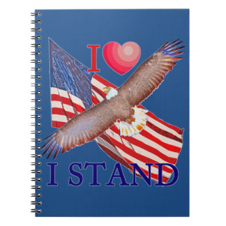 I LOVE I STAND NOTEBOOKS