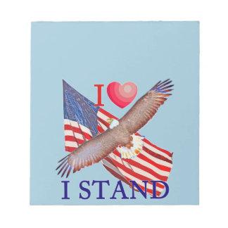 I LOVE I STAND NOTEPAD
