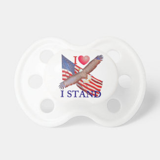 I LOVE I STAND PACIFIER