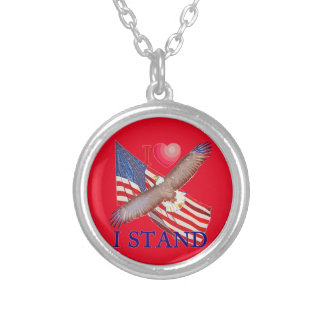 I LOVE I STAND SILVER PLATED NECKLACE
