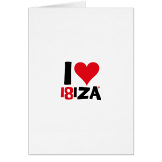 I love Ibiza 18IZA Special Edition 2018 Card