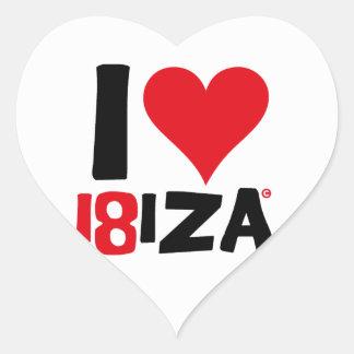I love Ibiza 18IZA Special Edition 2018 Heart Sticker