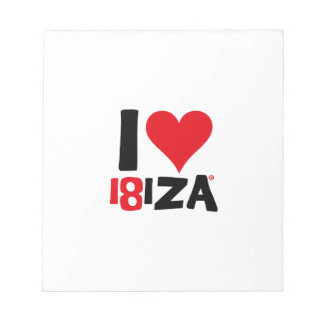 I love Ibiza 18IZA Special Edition 2018 Notepad