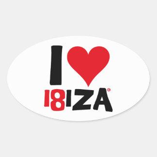 I love Ibiza 18IZA Special Edition 2018 Oval Sticker