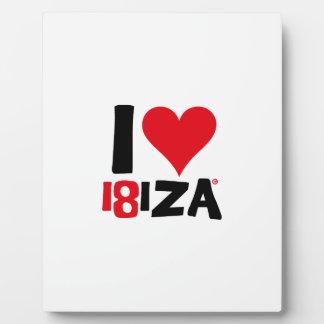 I love Ibiza 18IZA Special Edition 2018 Plaque
