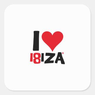I love Ibiza 18IZA Special Edition 2018 Square Sticker